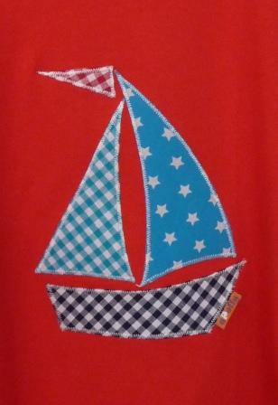Segelboot applikation  apolly - Textildesign für Groß und Klein | T-Shirt-Applikationen